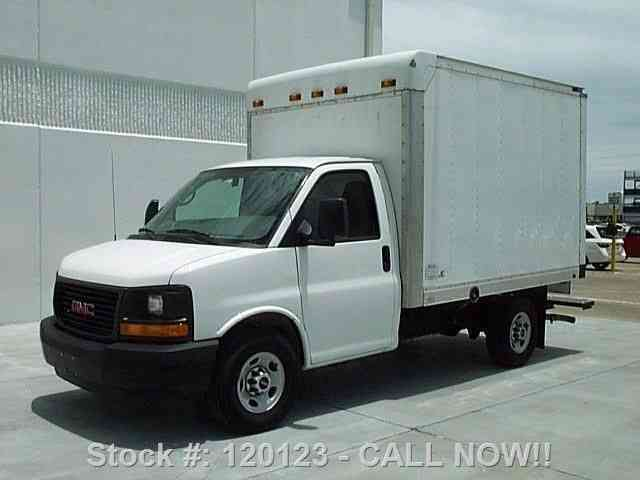 gmc savana 3500 cargo box van 6 0l v8 rear cam 19k 2012 van box trucks jingletruck com