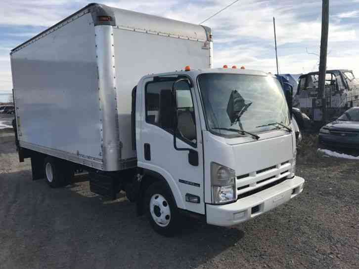 Isuzu Npr Box Truck Lift Gate Original Miles Diesel Engine Ft Box on Isuzu Truck Npr Diesel Engine