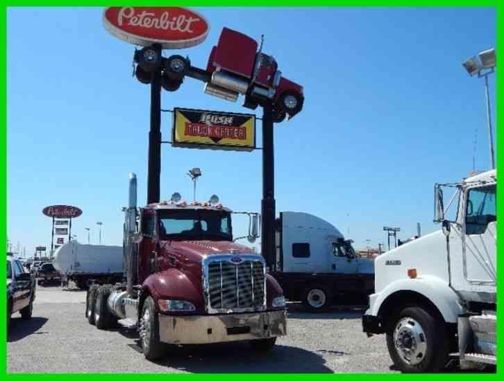 peterbilt 386 2012 daycab semi trucks. Black Bedroom Furniture Sets. Home Design Ideas