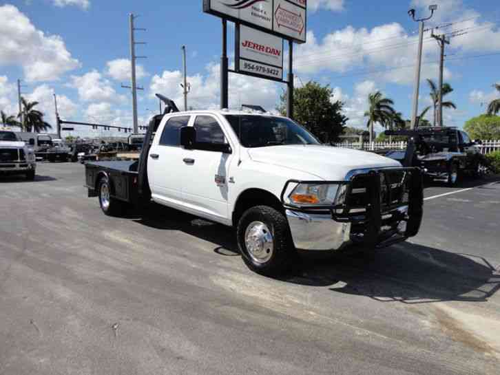 Ram 3500 CREW CAB 4X4. . 9. 5FT FLATBED HAULER BED. (2012)
