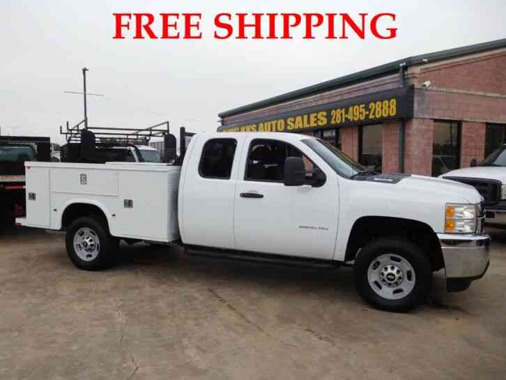 CHEVROLET SILVERADO 2500 HD 4WD UTILITY SERVICE TRUCK EXTENDED CAB LONG BED 6. 0L (2013)