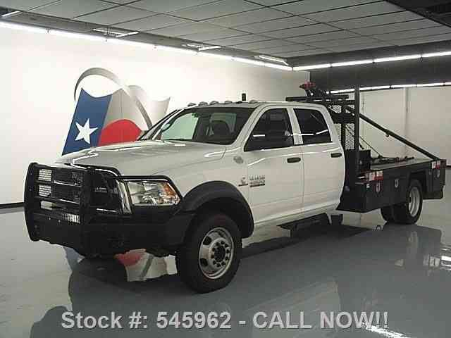 Dodge Ram 4500 4X4 DIESEL GIN POLE FLATBED TOW (2013) : Commercial ...