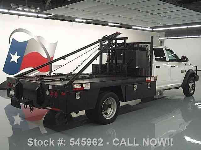 Dodge Ram 4500 4x4 Diesel Gin Pole Flatbed Tow 2013