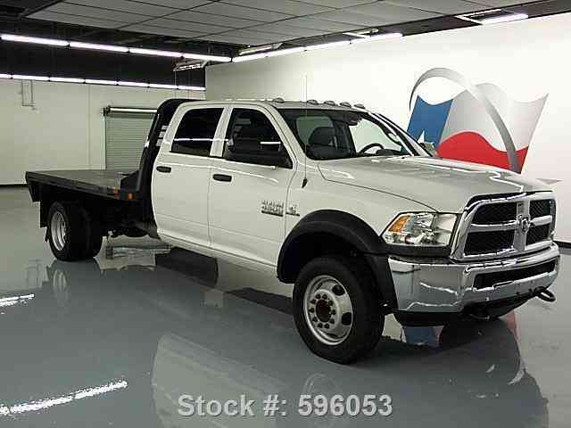 Dodge Ram 4500 Crew 4x4 Diesel Dually Flatbed 2013 Commercial Pickups