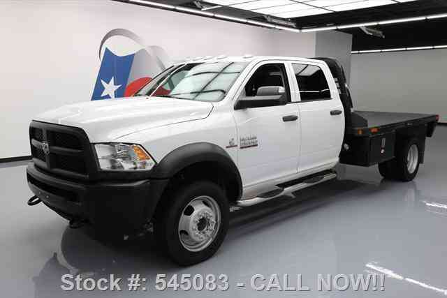 dodge ram 5500 crew 4x4 diesel dually flatbed  2013    commercial pickups