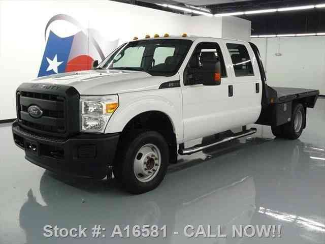 Ford F-350 CREW DIESEL DUALLY 4X4 FLAT BED (2013)