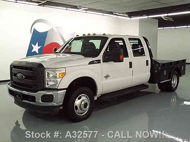 ford 4x4 tow flatbed dually diesel crew f350