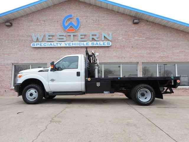 Ford Flatbed Crane 2013 Utility Service Trucks