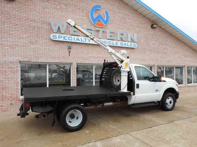 Ford Flatbed Crane 2013 Utility Service Trucks
