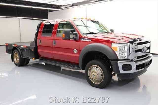 Flatbed Tow Truck >> Ford F-550 XLT CREW 4X4 DIESEL DUALLY FLATBED (2013 ...