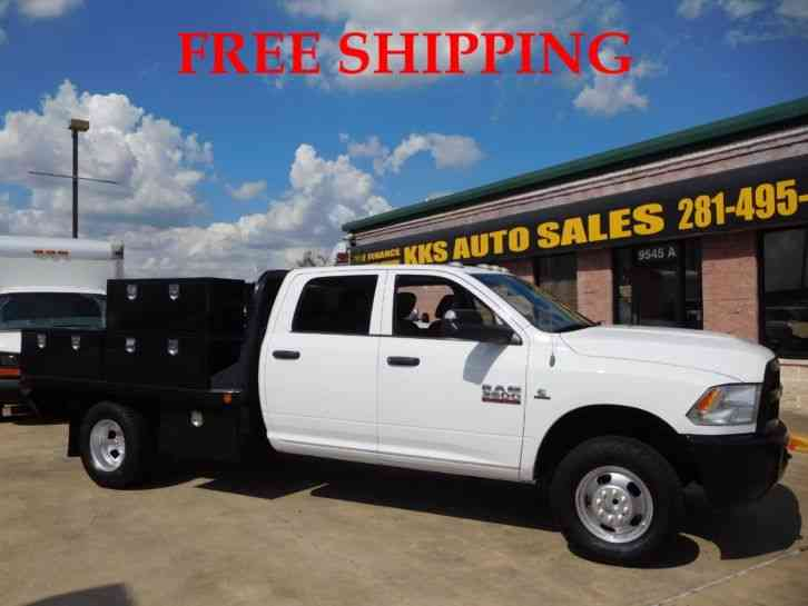 Flatbed Truck For Sale >> Ram 3500 Heavy Duty Flatbed Truck With Utility Box 6 7