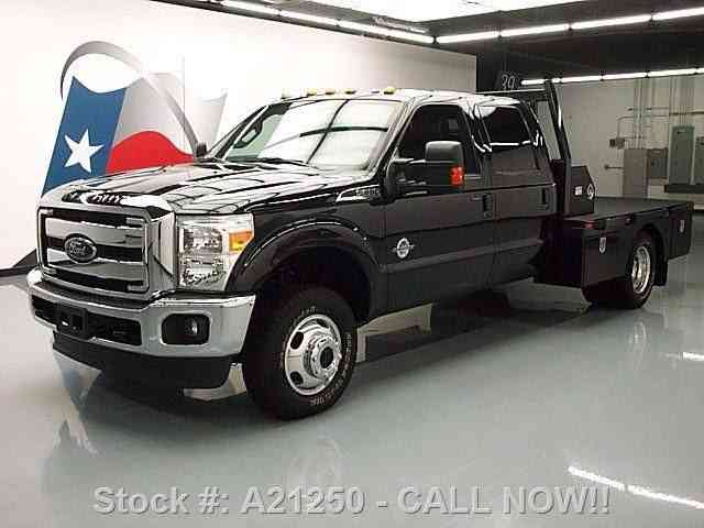 F350 Flatbed For Sale >> Ford F 350 Lariat Crew Diesel Drw 4x4 Flat Bed Nav 2014