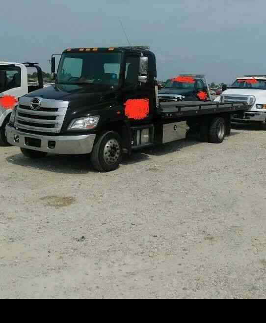 HINO 258 ALP 2 CAR CARRIER FLATBED WRECKER TOW TRUCK 7. 7 I6 (2014)