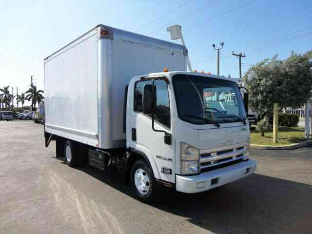 Isuzu NPR HD 14FT BOX & RAIL LIFTGATE 14, 500 GVWR (2014)