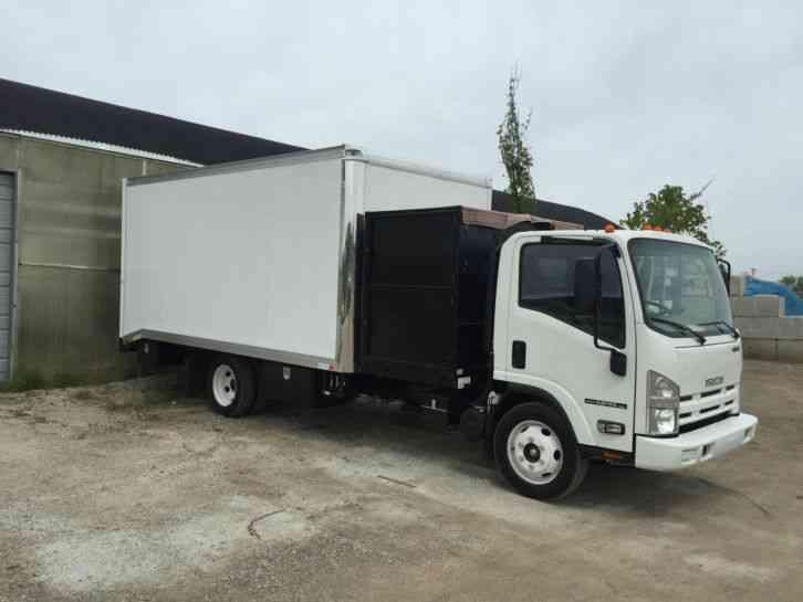 Isuzu npr hd efi 2014 van box trucks for Garden maintenance van