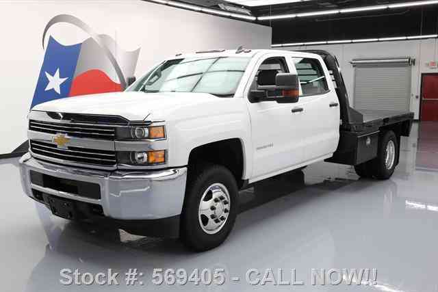 Chevrolet Silverado 3500 HD 4X4 CREW DUALLY FLATBED (2015)