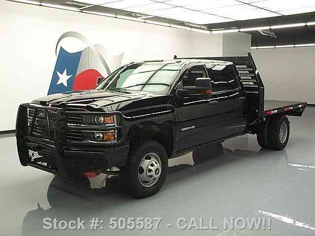 Chevy 3500 Diesel For Sale Chevrolet Silverado 3500 HD 4X4 CREW DIESEL FLATBED (2015 ...