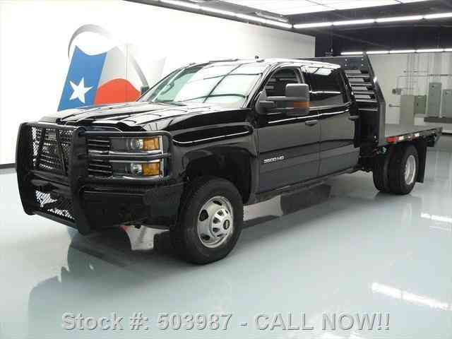 Chevrolet Silverado 3500 HD 4X4 CREW DIESEL FLATBED (2015) : Commercial Pickups