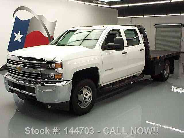 Chevrolet Silverado 3500 Hd Crew 4x4 Dually Flatbed 2015