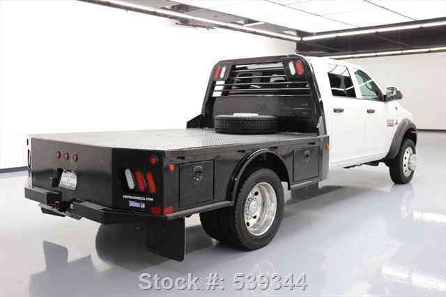 dodge ram 5500 crew 4x4 diesel daully flatbed  2015    commercial pickups
