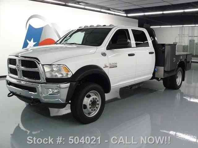 dodge ram 5500 crew cab diesel dually flat bed  2015    commercial pickups