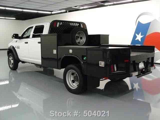 Dodge Ram 5500 Crew Cab Diesel Dually Flat Bed 2015 Commercial