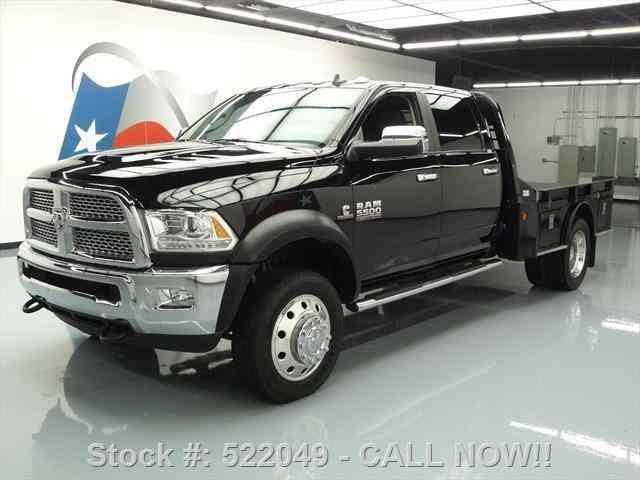 dodge ram 5500 laramie 4x4 diesel flatbed nav  2015    commercial pickups