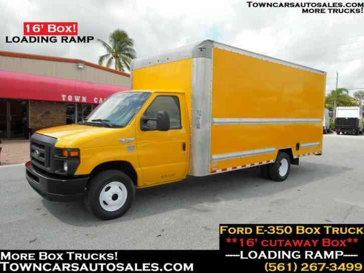 Ford E350 Cutaway Box Truck Loading Ramp 90K Miles (2015)