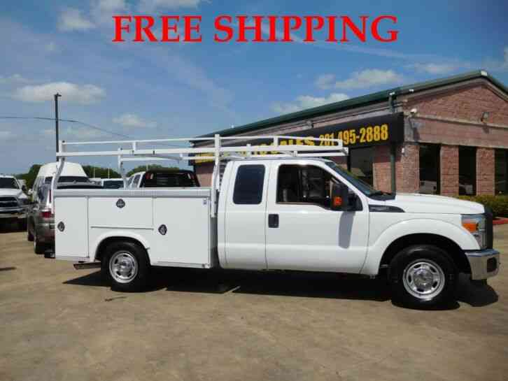 FORD F-250 XL SUPER DUTY UTILITY SERVICE TRUCK EXTENDED CAB LONG BED 6. 2L (2015)