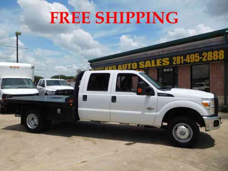 FORD F-350 SUPER DUTY 4WD FLATBED LONG BED 6. 7L DIESEL (2015)