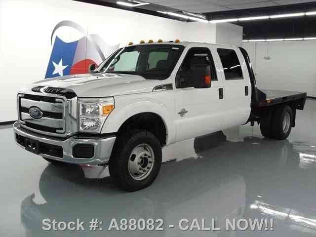 Ford F-350 XLT CREW DIESEL DUALLY 4X4 FLAT BED (2015)