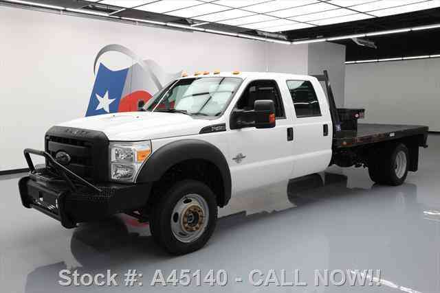 Ford F-450 CREW DIESEL DUALLY 4X4 FLAT BED (2015)