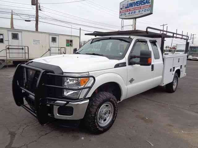 ford f250 4x4 extended service utility truck diesel 2015