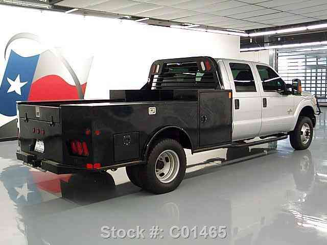 Ford F-350 CREW 4X4 DIESEL DUALLY FLAT-BED TOW (2015 ...