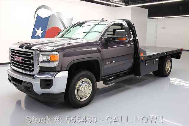 gmc sierra 3500 sle reg 4x4 dually diesel flat bed 2015. Black Bedroom Furniture Sets. Home Design Ideas