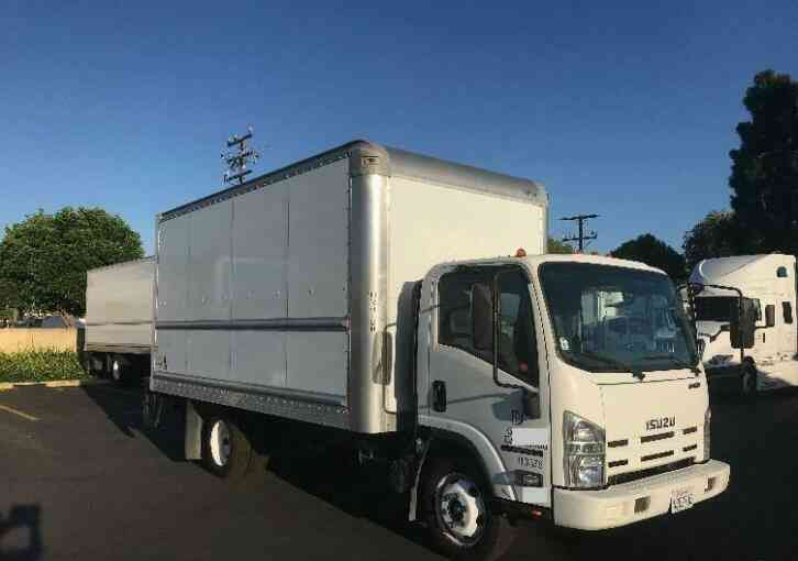ISUZU NPR-HD 16FT BOX TRUCK W/LIFTGATE GAS 14500# WARRANTY SHIPPING (2015)