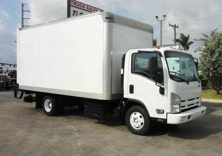 Isuzu NPR HD 16FT DRY BOX. TUCK UNDER LIFTGATE BOX TRUCK CARGO T (2015)