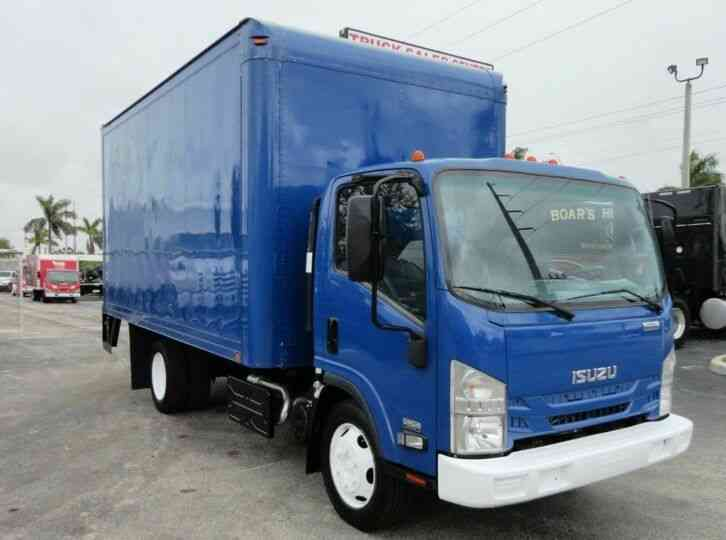Isuzu NQR 16FT DRY BOX. TRUCK UNDER LIFTGATE BOX TRUCK CARGO (2015)