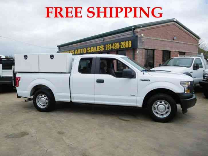 FORD F-150 XL COMMERCIAL PICKUP TRUCK WITH UTILITY BOX AND TOMMY GATE EXTENDED CAB (2016)