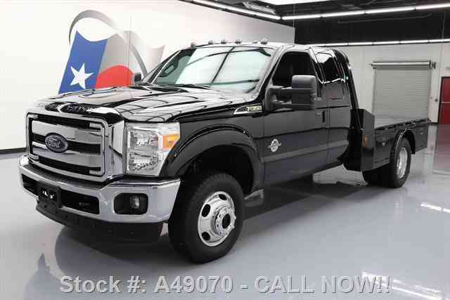 Ford F-350 LARIAT SUPERCAB DRW DIESEL 4X4 FLAT BED (2016)