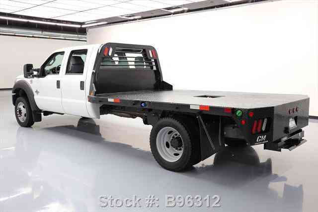 Ford F 550 Crew Cab Diesel Dually 4x4 Flat Bed 2016