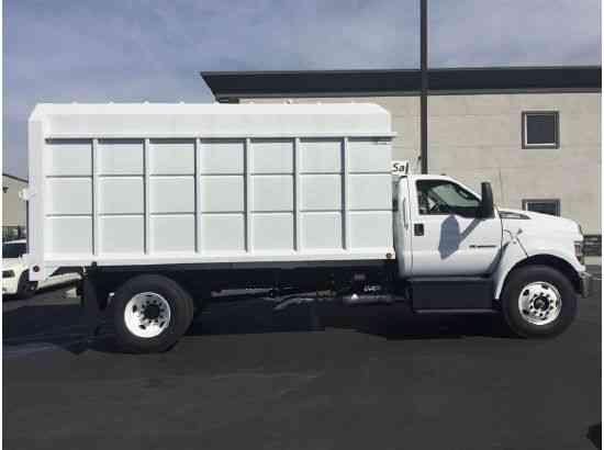 Ford f650 16ft chipper box truck 6 7l diesel 300hp auto for 16 box auto