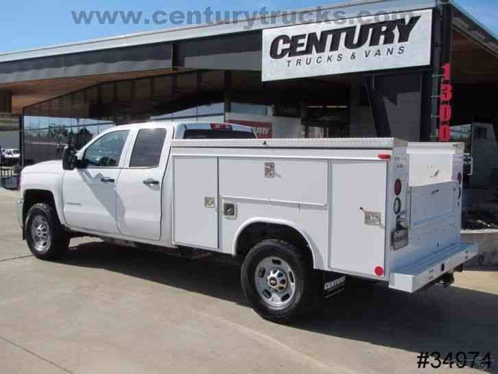 chevrolet 2500 4x4 double cab service truck  2015    utility    service trucks
