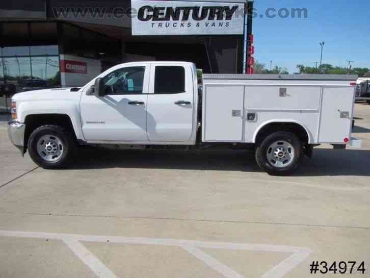 truck utility service cab 4x4 double diesel 2500hd jingletruck duramax trucks body work bed 2500 chevrolet