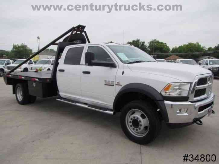 Dodge Diesel Trucks For Sale >> RAM 4500 4X4 CREW CAB FLAT BED TRUCK (2015) : Flatbeds ...