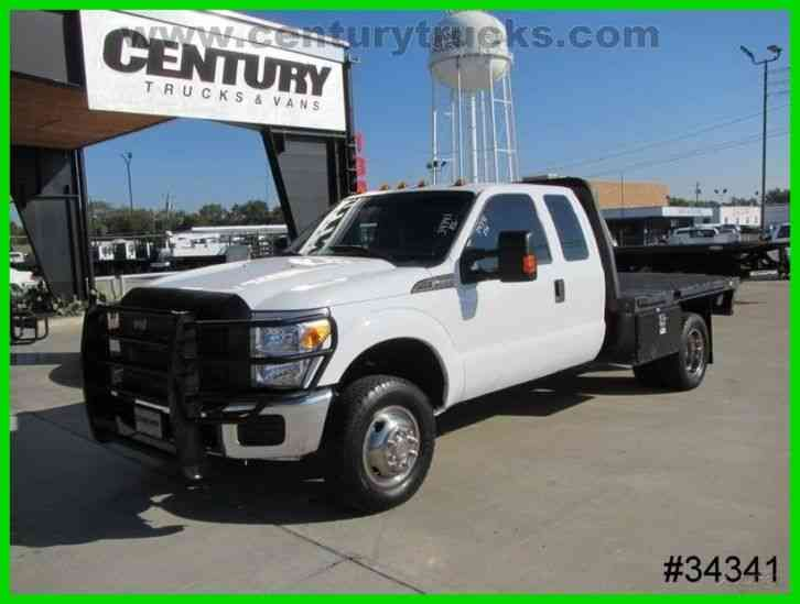 Ford F350 4X4 DRW FLATBED WORK TRUCK (2015)
