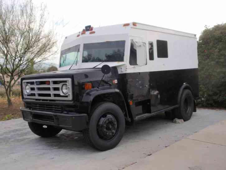 Gmc 7000 Frame Armored Transport Body 1987 Medium Trucks
