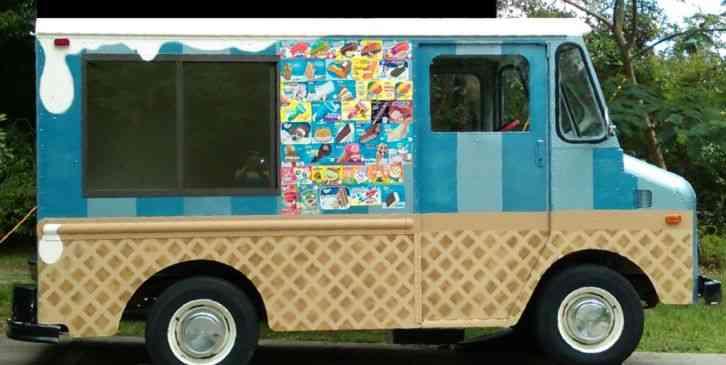 Ice Cream Trucks For Sale >> Ford P350 Box Van 1971