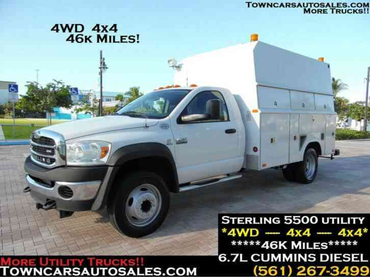 Dodge RAM 5500 4x4 ENCLOSED UTILITY TRUCK 46K MILES (2009)
