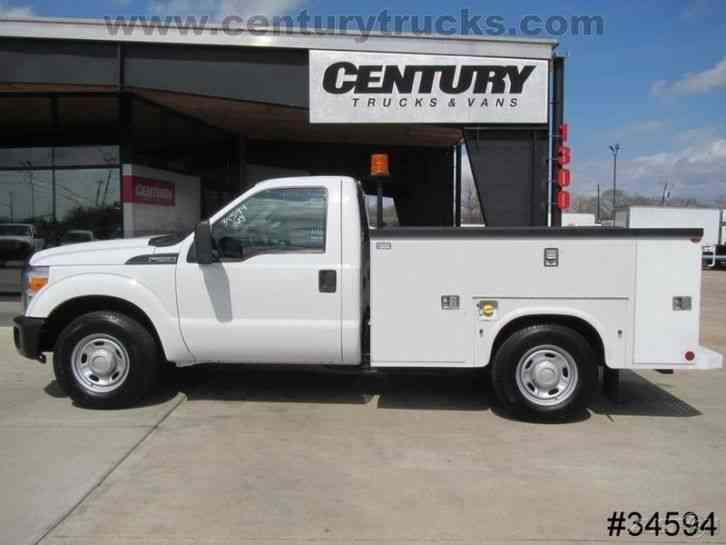 ford f250 regular cab service body truck 2013 utility service trucks. Black Bedroom Furniture Sets. Home Design Ideas